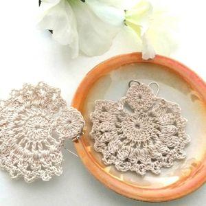 ❇️ Earrings Lace Handmade lightweight crochet